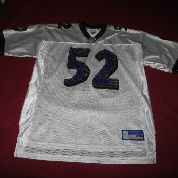 best service a79e3 cdd75 Ray Lewis Baltimore Ravens Jersey - XL NFL White
